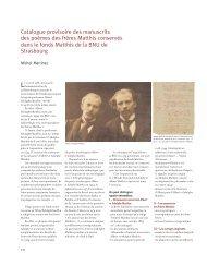 Catalogue provisoire des manuscrits des poèmes des frères Matthis ...