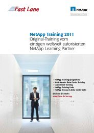Netapp Training 2011 Original-Training vom ... - Fast Lane Schweiz