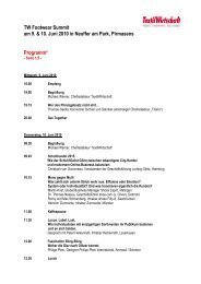 Programm Footwear Summit 2010 - TextilWirtschaft