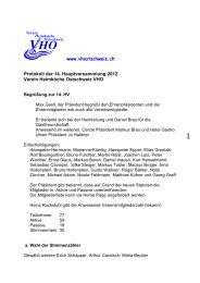 HV Protokoll 2012 - Verein Heimköche Ostschweiz