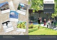 Flyer population actrice touristique - Forum Fribourg