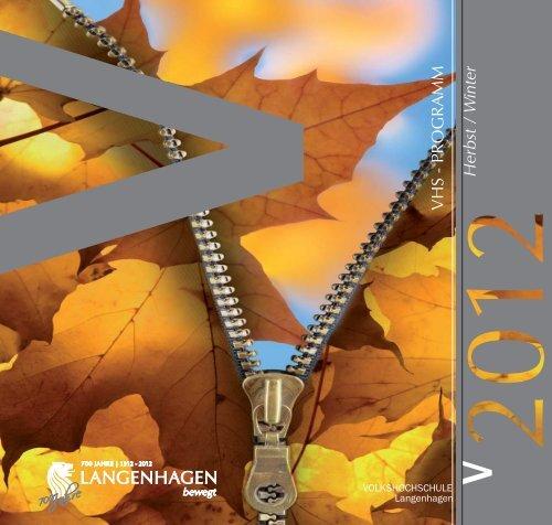 VHS - PROGRAMM Herbst / W inter - Volkshochschule Langenhagen