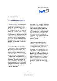 Forum Elektromobilität - traffiQ