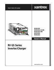 SW Series Inverter/Chargers Owner's Manual - Xantrex on