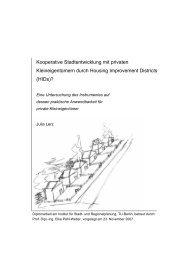 Kooperative Stadtentwicklung mit privaten - Urban Improvement ...