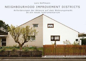 Lars Hoffmann (HCU Hamburg): NID - Urban Improvement Districts