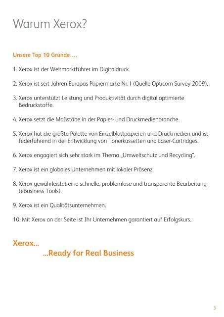 Gesamtkatalog - xerox supplies-center