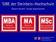 Impressionen unserer Alumni - School of International Business and ...