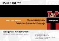 Media Kit 2012 - T&P - Magazyn specjalistyczny Tekstylia
