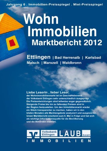 Marktbericht + Immobilienpreisspiegel 2012 - Volksbank Ettlingen eG