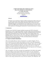 Computer-Mediated Communication - The Journal of Teaching ...