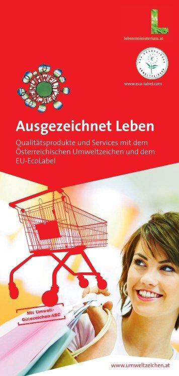 Ausgezeichnet Leben - Das Österreichische Umweltzeichen