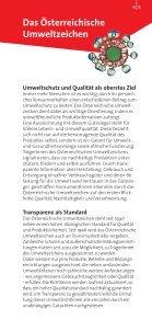 Ausgezeichnet Leben - Das Österreichische Umweltzeichen - Seite 5