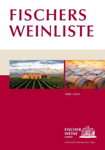 FISCHERS WEINLISTE - Fischer Weine