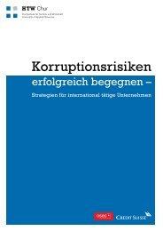 Leitfaden – Korruptionsrisiken erfolgreich begegnen - HTW Chur
