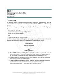 BGV B11 Elektromagnetische Felder - Systron