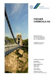 FISCHER CHEMICALS AG - Fischer Group