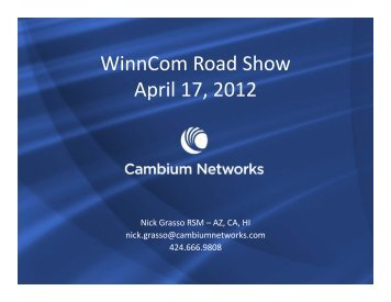 Cambium Networks - Winncom Technologies