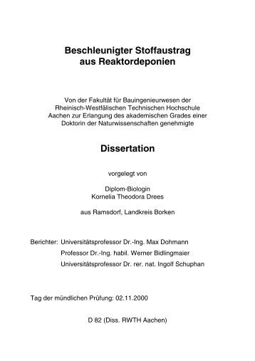 elektronische dissertation rwth aachen Elektronische dissertationen rwth aachen mail average dissertation length by discipline law essays on the handmaids tale by margaret atwood quote narrative essay.