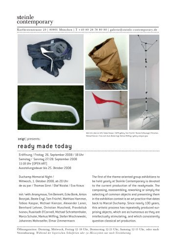 ready made today - steinle contemporary