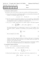 Exercise 10 – T. Quella with P. Rønne & M. Schäfer Quantum Field ...