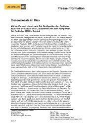 Zwei Presseinformation - Zeppelin Baumaschinen GmbH