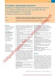 Kolorektales Karzinom - AWMF