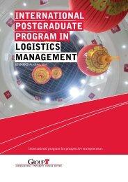 international postgraduate program in logistics management - Groep T