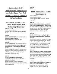 Symposium 3: 9 International Symposium on Solid Oxide Fuel Cell ...