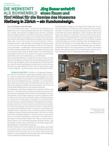 download Artikel Hochparterre magazine (900KB) - joergboner.ch