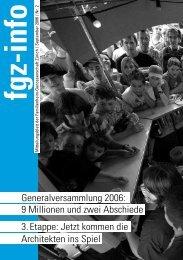 fgz-info - Familienheim-Genossenschaft Zürich