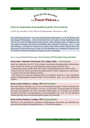 Schwerer Impfschaden – homöopathisch geheilt ... - Tisani Verlag