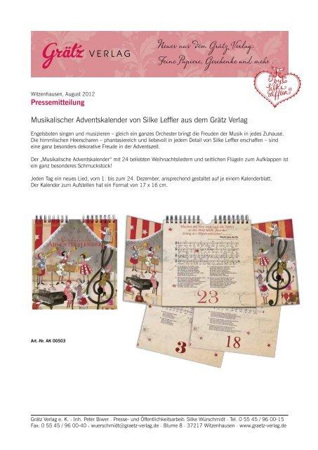 Neues aus dem Grätz Verlag: Feine Papiere, Geschenke und mehr . . .