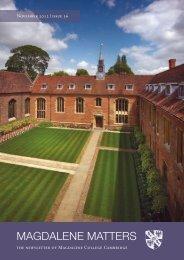 Magdalene Matters Autumn 2012 - Magdalene College Cambridge