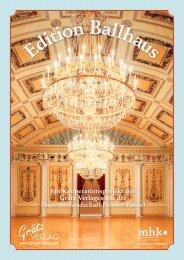 Edition Ballhaus - Grätz-Verlag