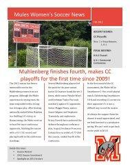 Fall 2012 Newsletter - Muhlenberg College