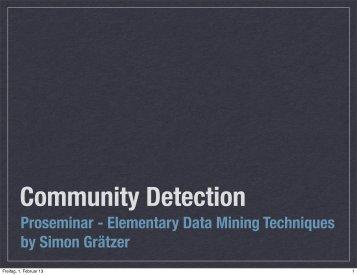 Proseminar - Elementary Data Mining Techniques by Simon Grätzer