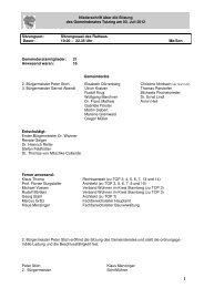 Gemeinderat 03. Juli 2012 - Tutzing
