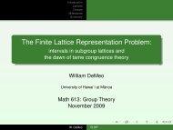 The Finite Lattice Representation Problem: - intervals in subgroup ...