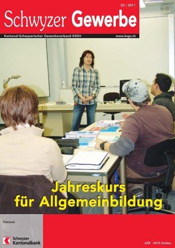 Jahreskurs für Allgemeinbildung - KMU Frauen Schwyz