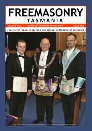 August 2012 - Grand Lodge of Tasmania