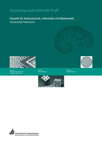 Forschung und Lehre mit Profil 2004 - Fakultät für Elektrotechnik ...