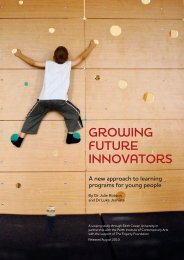 GrowinG Future innovators - ARC Centre of Excellence for Creative ...