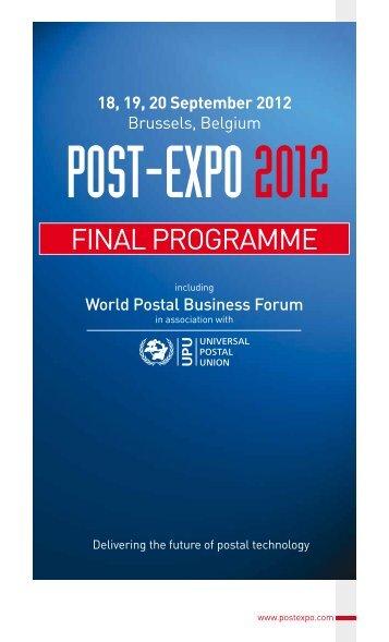 FINAL PROGRAMME - Post-Expo