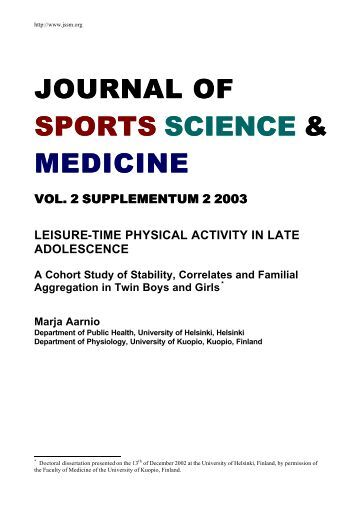 Journal Of Sports Science 117