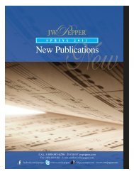 New Pubs Spring Cat 2011:Late Fall Choral Cat. 2004 - JW Pepper