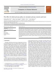 The effect of online privacy policy on consumer privacy concern and ...