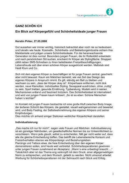 """Artikel """"Ganz schön ich"""" - Frauengesundheitszentrum Graz"""