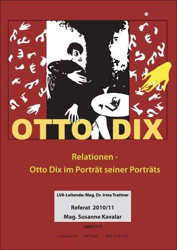 Relationen - Otto Dix im Porträt seiner Porträts - linzstudium