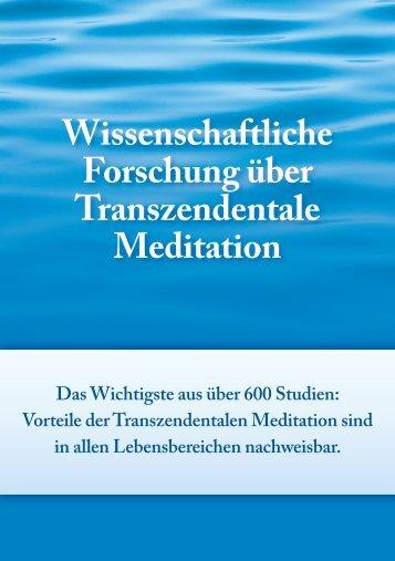 Wissenschaftliche Forschung über Transzendentale Meditation
